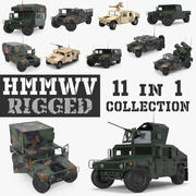 Rigged HMMWV 3D Models Collection 3d model