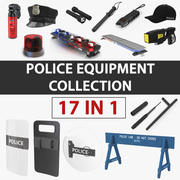 Polis Ekipman Koleksiyonu 3d model