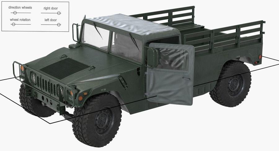 Коллекция грузовых военных автомобилей royalty-free 3d model - Preview no. 17