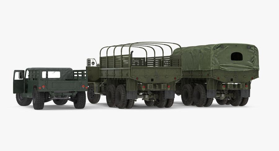 Коллекция грузовых военных автомобилей royalty-free 3d model - Preview no. 6