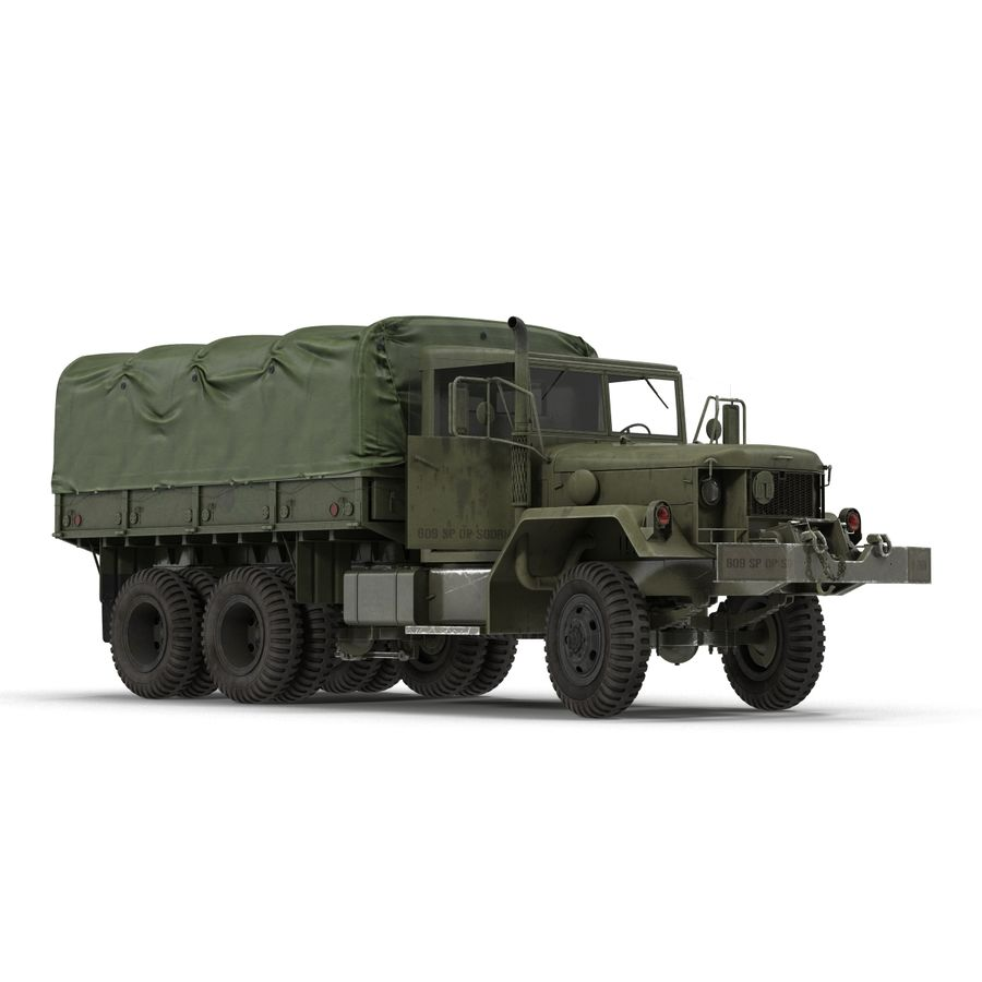 Коллекция грузовых военных автомобилей royalty-free 3d model - Preview no. 35