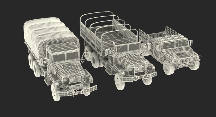 Коллекция грузовых военных автомобилей royalty-free 3d model - Preview no. 49