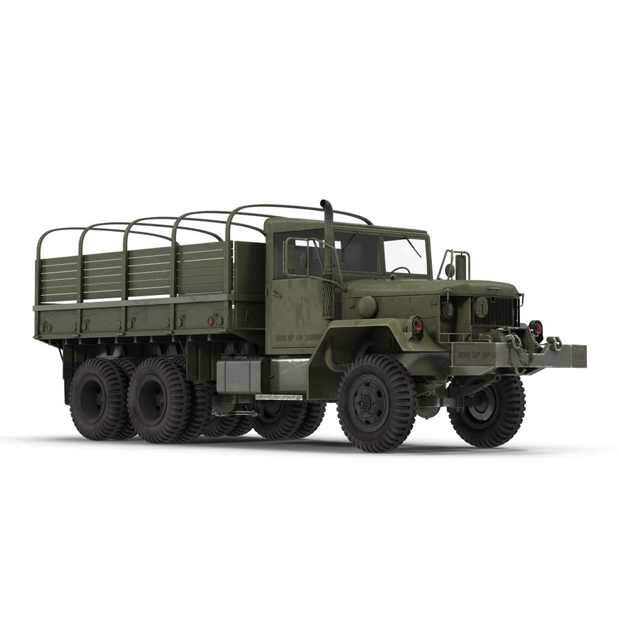 Коллекция грузовых военных автомобилей royalty-free 3d model - Preview no. 36