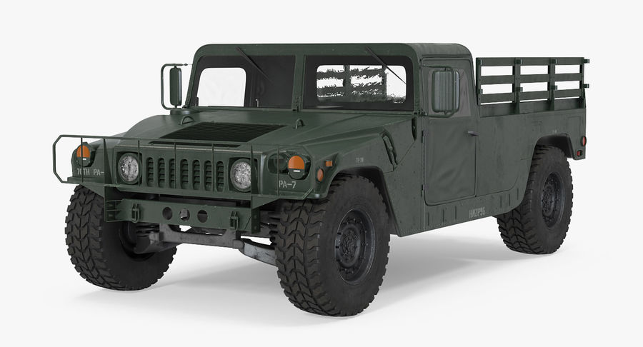 Коллекция грузовых военных автомобилей royalty-free 3d model - Preview no. 9