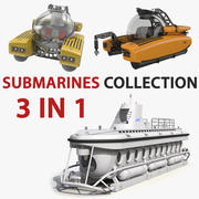 Personal Submarines Collection 3d model