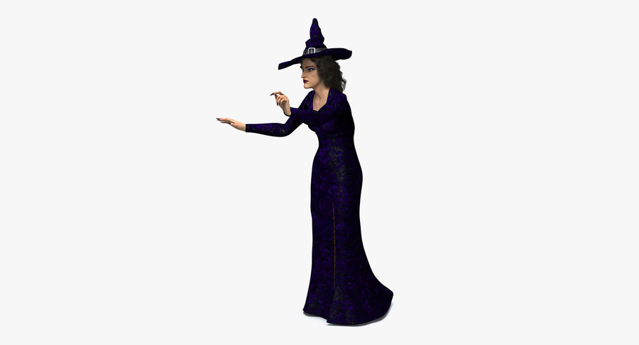 Witch Woman Rigged royalty-free 3d model - Preview no. 2