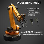 Industrial Robot 6 Axes mechanical Arm - 3 tools 3d model