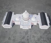 Capitolio de los Estados Unidos low poly modelo 3d