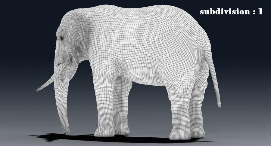 Éléphant (gréé) royalty-free 3d model - Preview no. 22