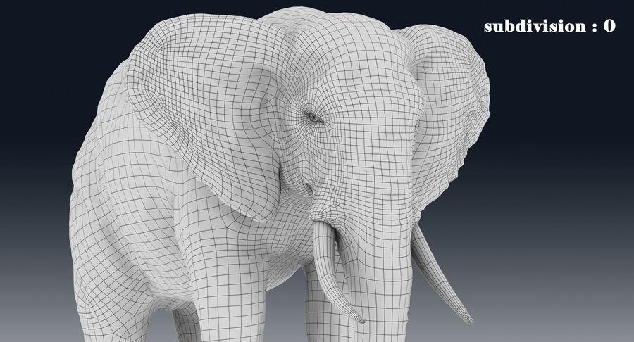 Éléphant (gréé) royalty-free 3d model - Preview no. 25