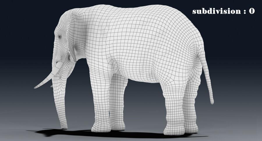 Éléphant (gréé) royalty-free 3d model - Preview no. 21