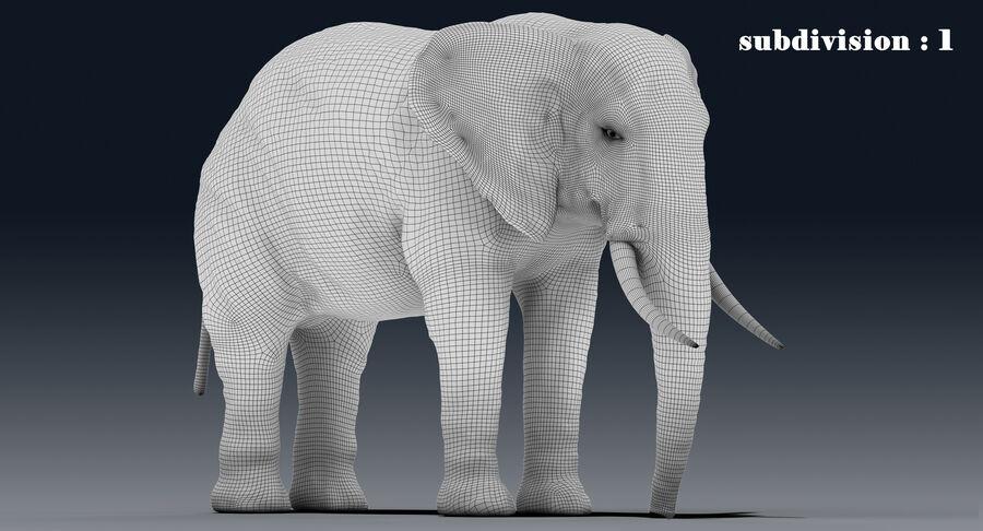 Éléphant (gréé) royalty-free 3d model - Preview no. 24