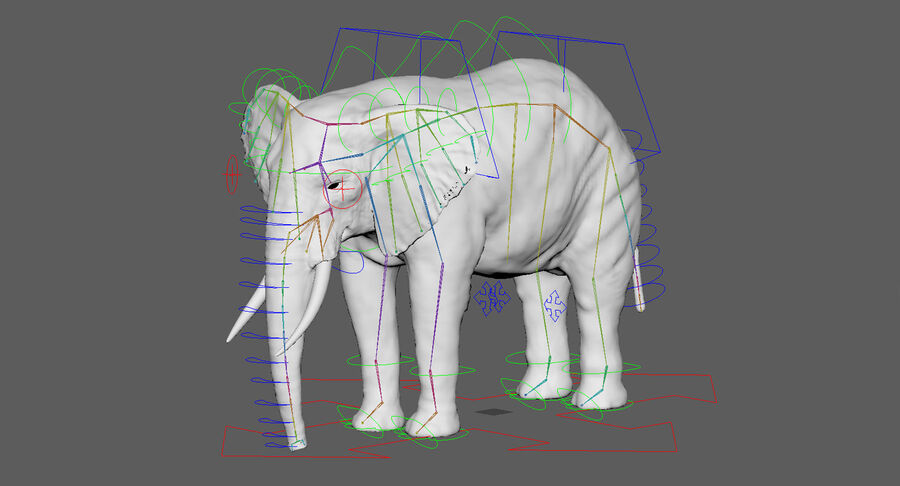 Éléphant (gréé) royalty-free 3d model - Preview no. 29