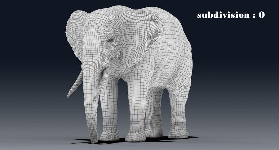 Éléphant (gréé) royalty-free 3d model - Preview no. 19