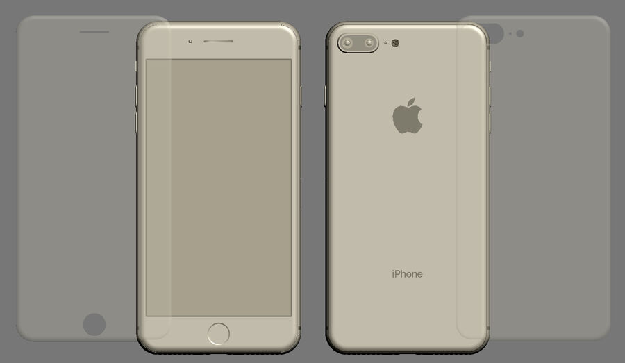 Apple Electronics Collection 2017 v1 royalty-free 3d model - Preview no. 62