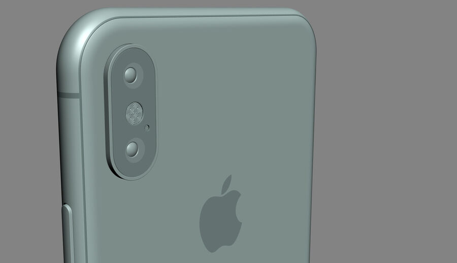 Apple Electronics Collection 2017 v1 royalty-free 3d model - Preview no. 27