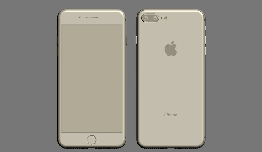Apple Electronics Collection 2017 v1 royalty-free 3d model - Preview no. 61