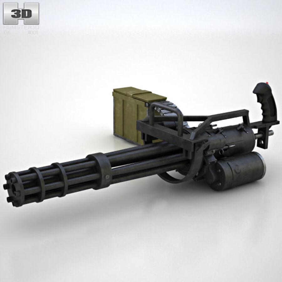 M134 Minigun royalty-free 3d model - Preview no. 5