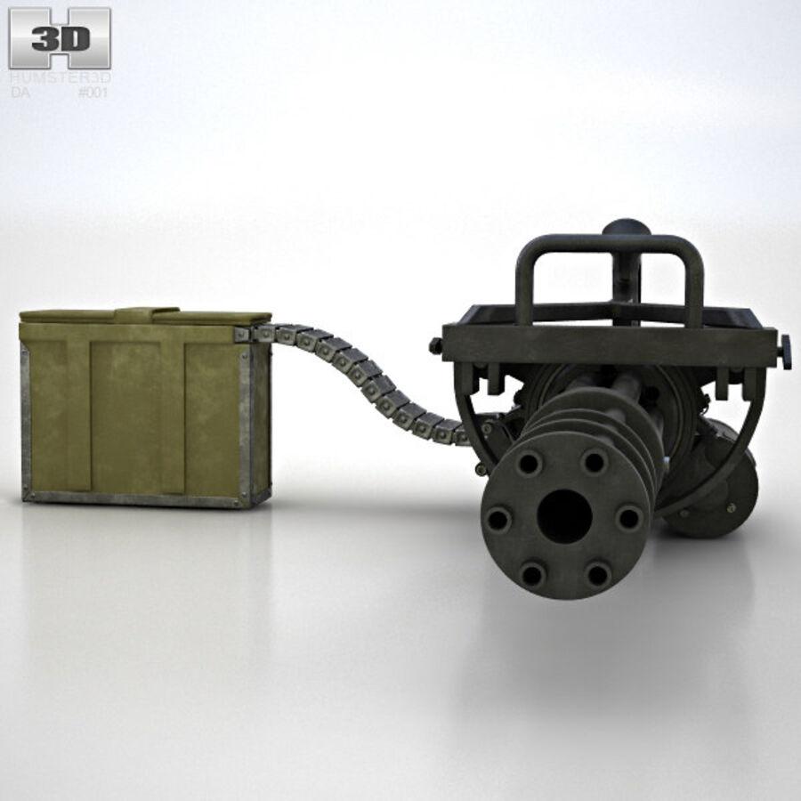 M134 Minigun royalty-free 3d model - Preview no. 8