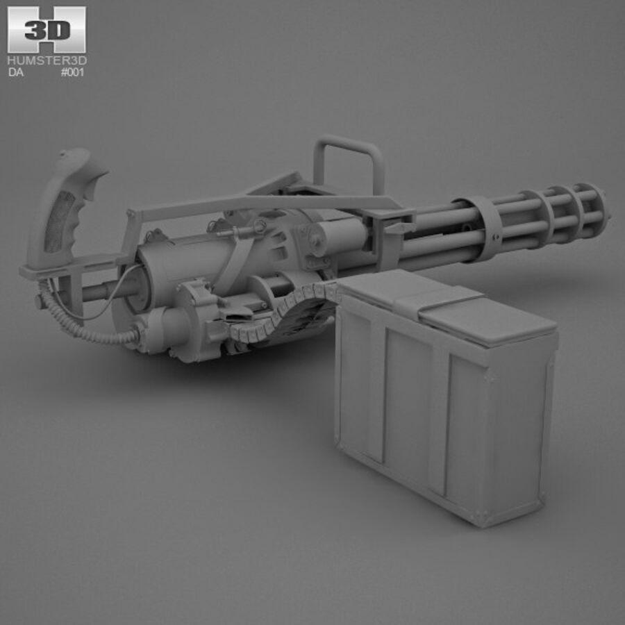 M134 Minigun royalty-free 3d model - Preview no. 12