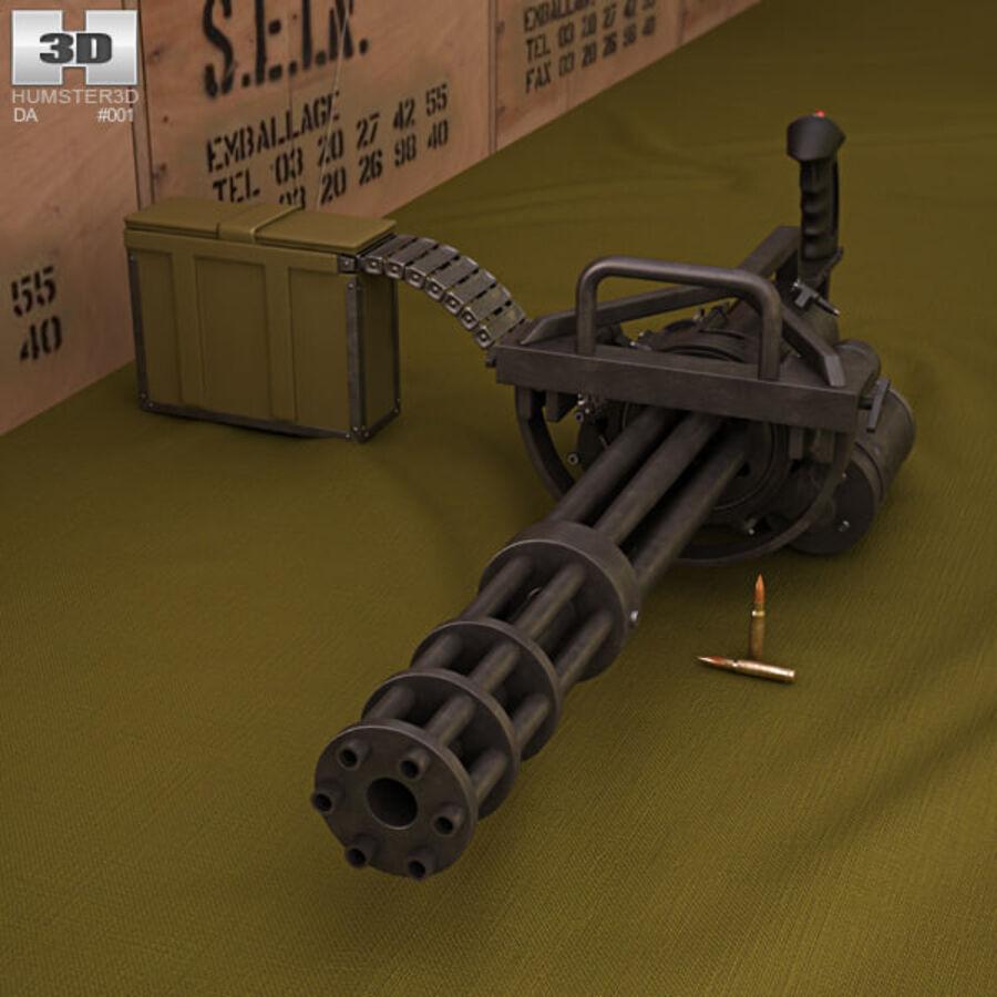 M134 Minigun royalty-free 3d model - Preview no. 1