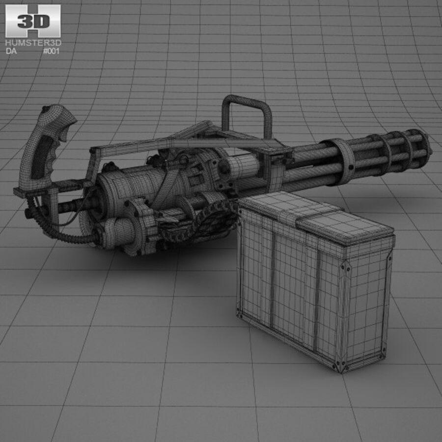 M134 Minigun royalty-free 3d model - Preview no. 4