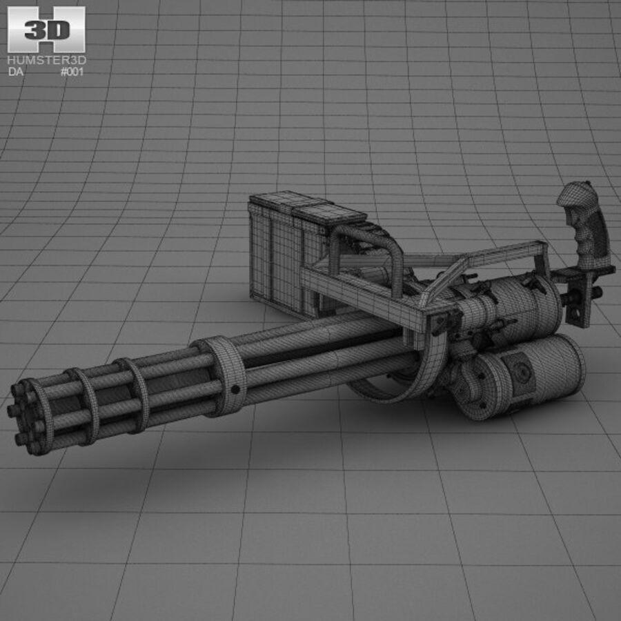 M134 Minigun royalty-free 3d model - Preview no. 3