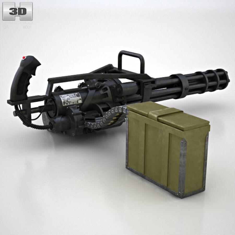 M134 Minigun royalty-free 3d model - Preview no. 6
