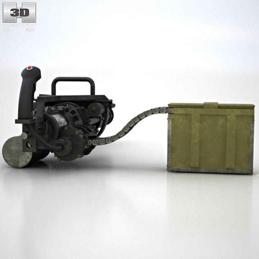 M134 Minigun royalty-free 3d model - Preview no. 10