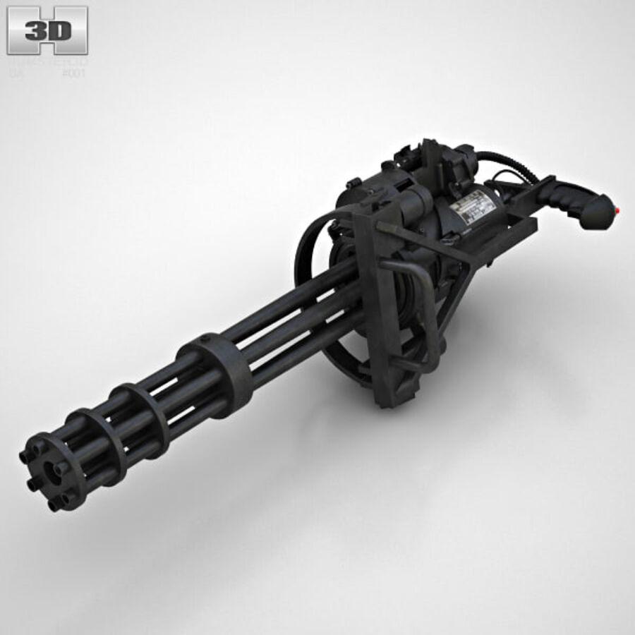 M134 Minigun royalty-free 3d model - Preview no. 9