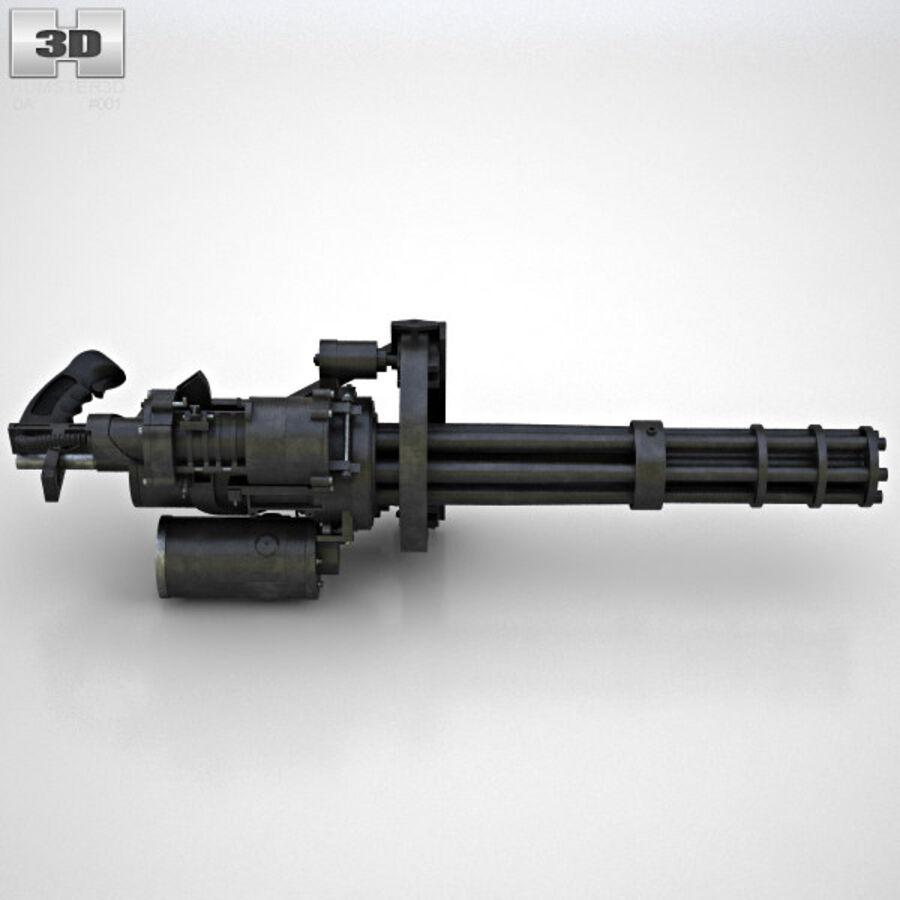 M134 Minigun royalty-free 3d model - Preview no. 7