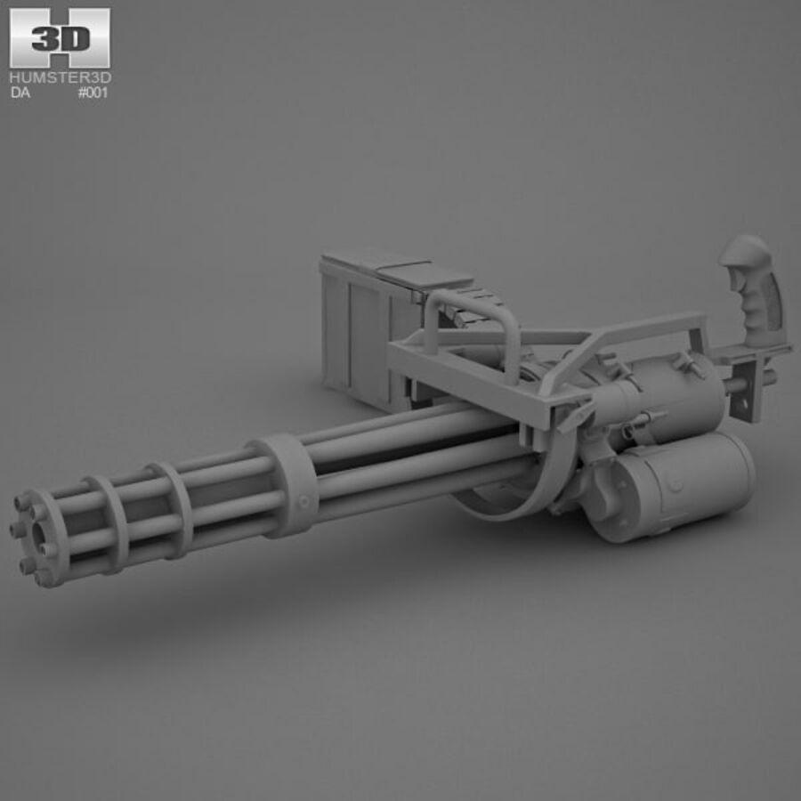 M134 Minigun royalty-free 3d model - Preview no. 11