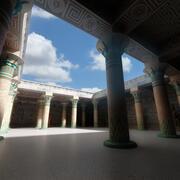 Interior de Egipto modelo 3d