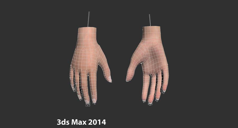 现实的女性手-源文件 royalty-free 3d model - Preview no. 19