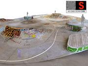 Скейт-парк Scan 24K 3d model