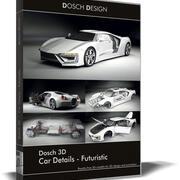 DOSCH 3D - Détails de la voiture - Futuriste 3d model