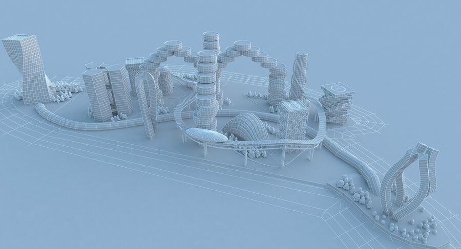 Ciudad futura royalty-free modelo 3d - Preview no. 18