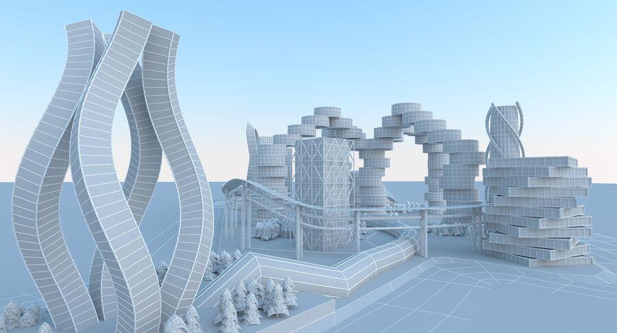 Ciudad futura royalty-free modelo 3d - Preview no. 17