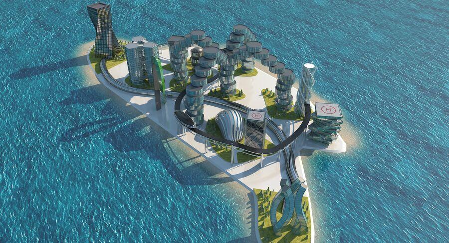 Ciudad futura royalty-free modelo 3d - Preview no. 2