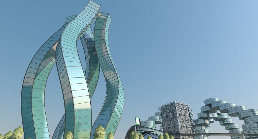 Ciudad futura royalty-free modelo 3d - Preview no. 16