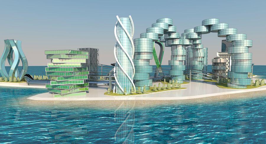 Ciudad futura royalty-free modelo 3d - Preview no. 9