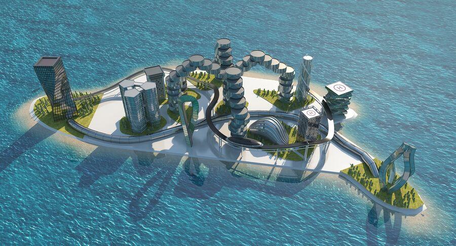 Ciudad futura royalty-free modelo 3d - Preview no. 3