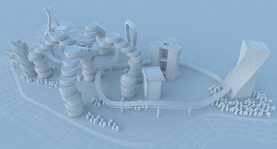 Ciudad futura royalty-free modelo 3d - Preview no. 20