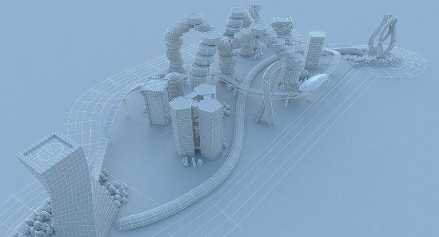 Ciudad futura royalty-free modelo 3d - Preview no. 19