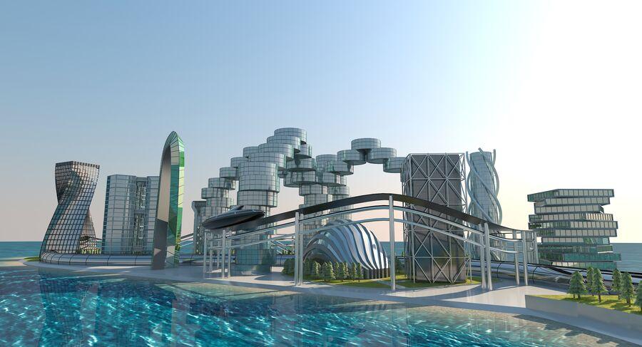 Ciudad futura royalty-free modelo 3d - Preview no. 13