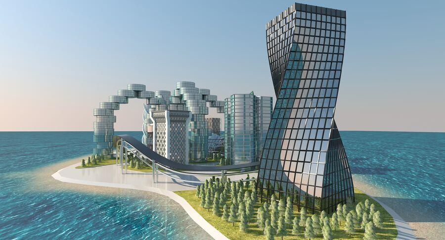 Ciudad futura royalty-free modelo 3d - Preview no. 11