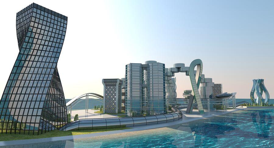 Ciudad futura royalty-free modelo 3d - Preview no. 12