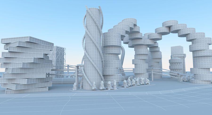 Ciudad futura royalty-free modelo 3d - Preview no. 21
