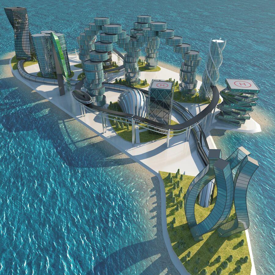 Ciudad futura royalty-free modelo 3d - Preview no. 1
