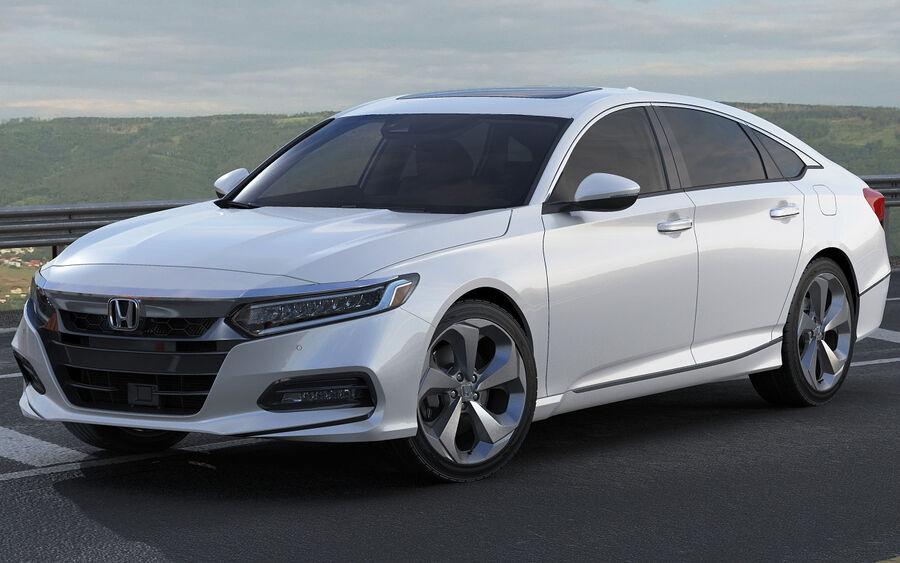 Honda Accord 2018 royalty-free 3d model - Preview no. 14